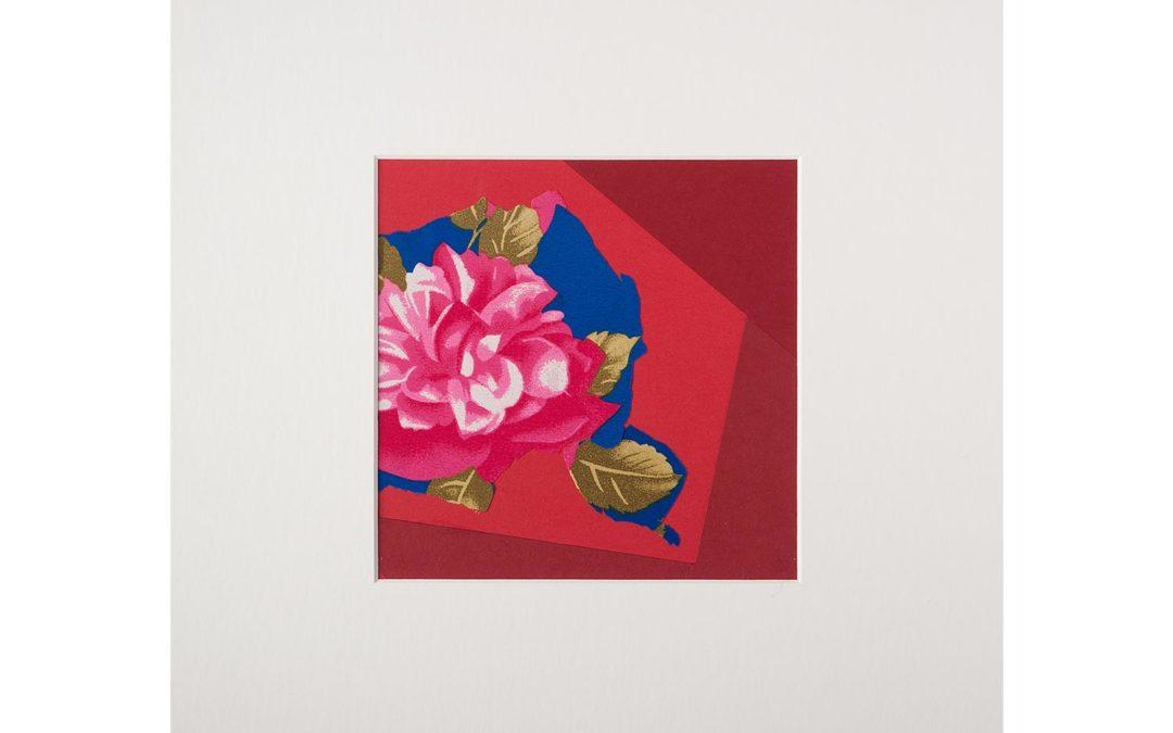Collage con flor 1